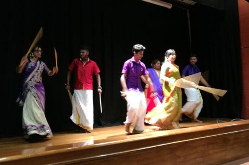 The kolattam or sticks dance.