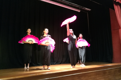 The fan dance.