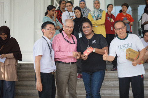 3rd placing (From Right): Kevin tan, ranjini and Dr ramesh.