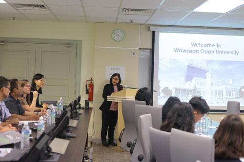 Prof Zoraini Wati Abas presents an overview of the University.