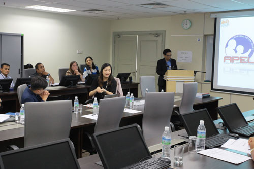 Lilian Kek (seated, foreground) highlights the Malaysian Qualifications Agency's role with regards to APEL.