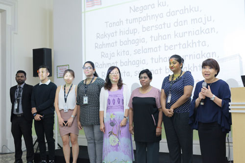 Ching (right) introduces her team from the Penang Regional Centre.