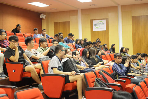 The annual general meeting of the student body in progress.