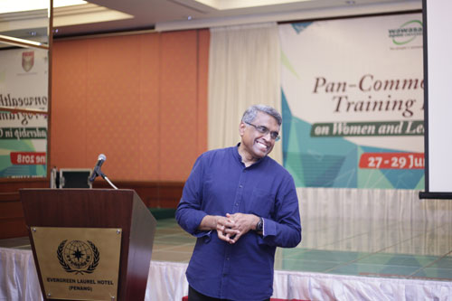 The training programmme facilitator, Dr Balasubramanian.