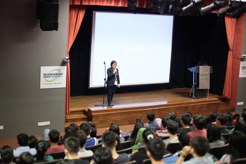 Prof Zoraini Wati Abas delivers her opening speech.