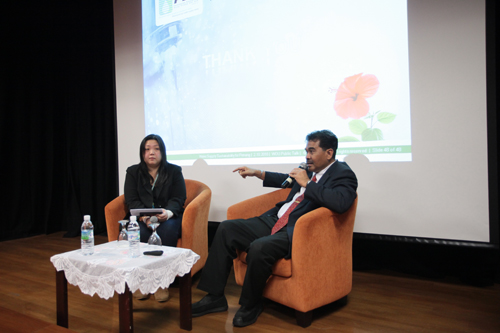 Jaseni stresses on the need to make the water from Sungai Muda safe.