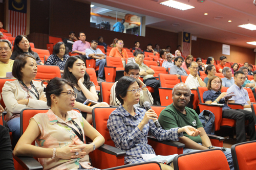 Part of the audience at the talk.