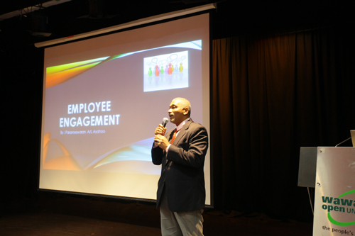 Parameswaran shares on Employee Engagement.