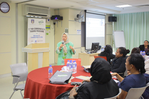 Prof Rashidah of Universiti Sains Malaysia facilitates the workshop.