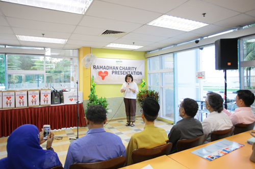 The University remembers the less fortunate during the major festivals, says Lau.