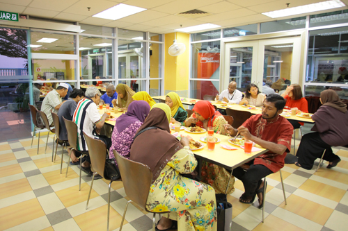 A simple berbuka puasa at the main campus.