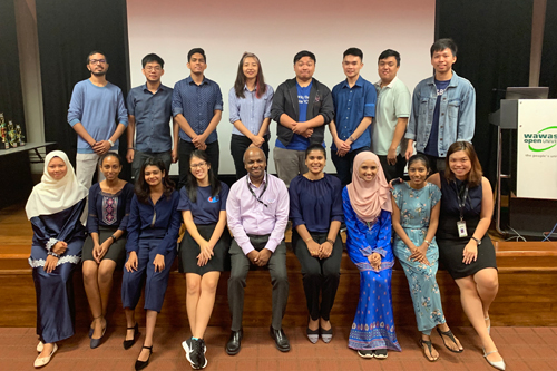 prakash (centre, front) and Christine khoo (front, right) with the new student council.