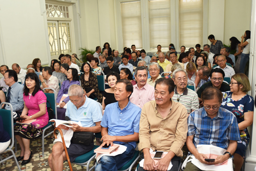 Part of the crowd at the book launch held at the Wawasan Open University main campus.