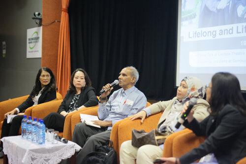 The panel speakers (from left to right): Tan, Dr Lye, Dr Suranthiran and Dr Maryam.