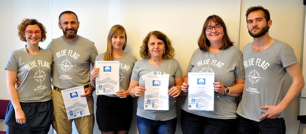 Blue Flag International Auditor team as of 15 June 2015 (from left to right): Sophie, Evangelos, Isabel, Dionysia, Susanne, Johann