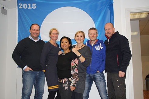 Semaphore team : from left to right Coerd, Mariska, Sherry, Martine, Paul and Jaap