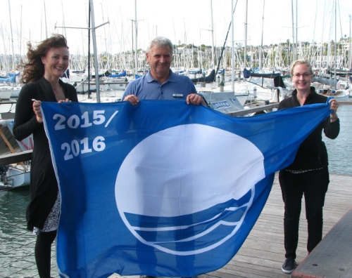Award ceremony in Westhaven Marina