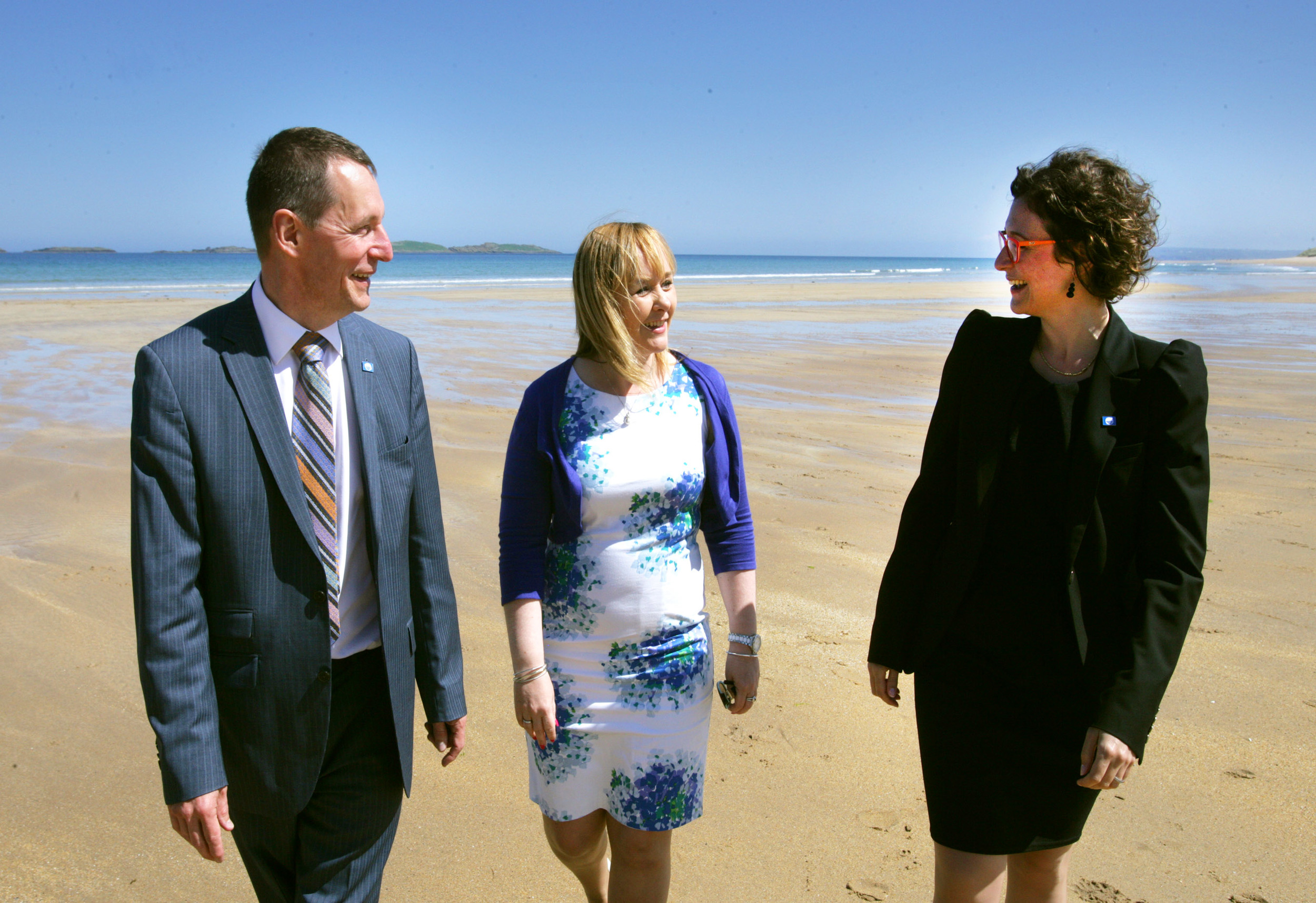 Ian Humphreys, Minister Michelle McIlveen and Sophie Bachet Granados