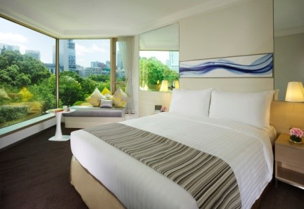"""With the guests' support, the hotel has successfully implemented a """"Towel & Linen Green Programme"""" – encouraging guests to change the bed linens every 2 days and towels are changed upon request, since 2014. The programme reduces water consumption and chemicals."""