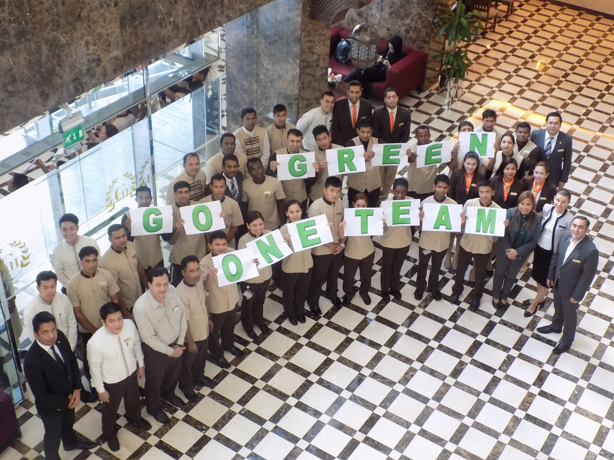 The Green Champions of the First Central Hotel Suites, Dubai