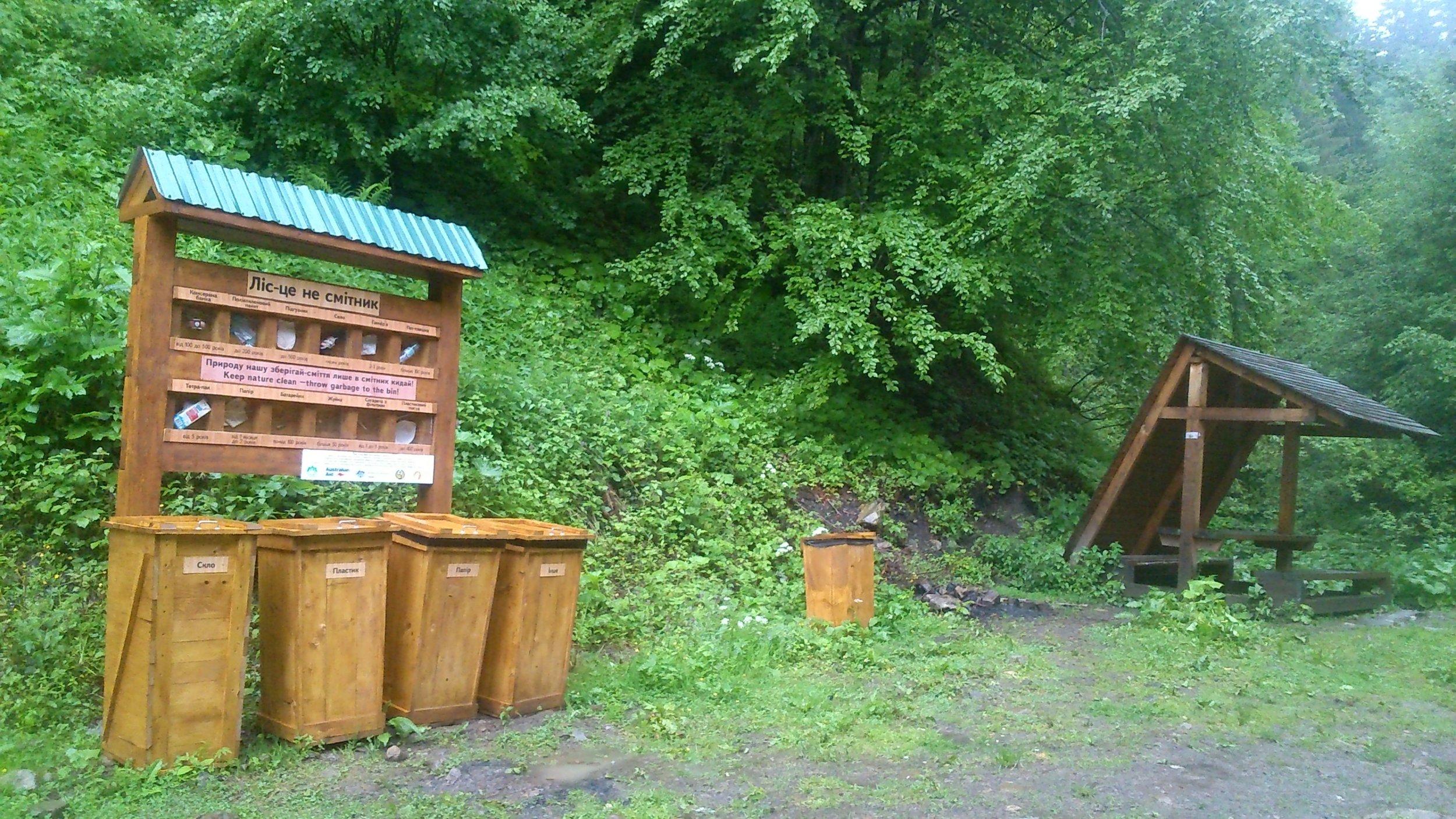 Waste sorting and environmental education by Radisson Blu Resort Bukovel