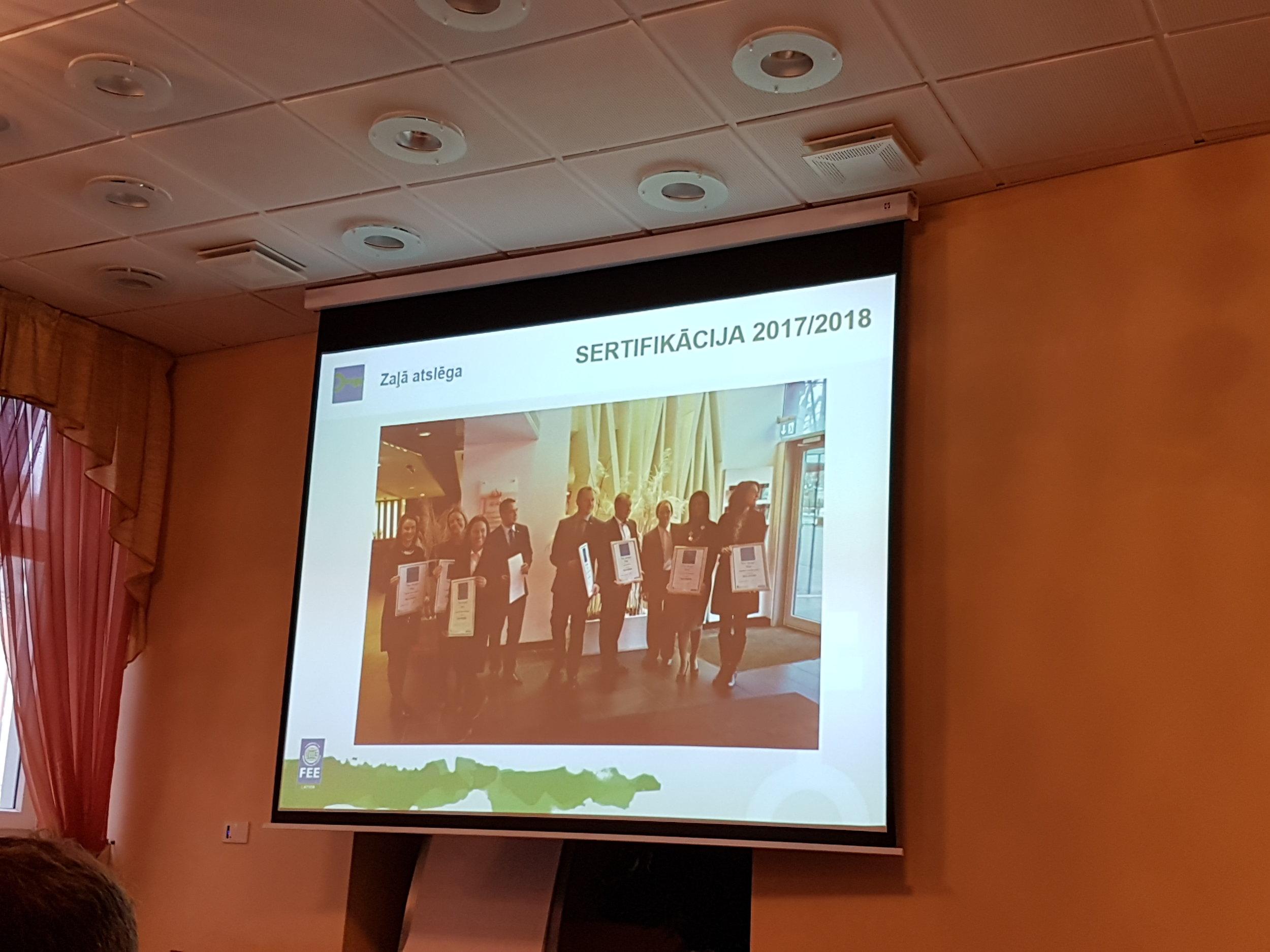 Green Key seminar in Latvia