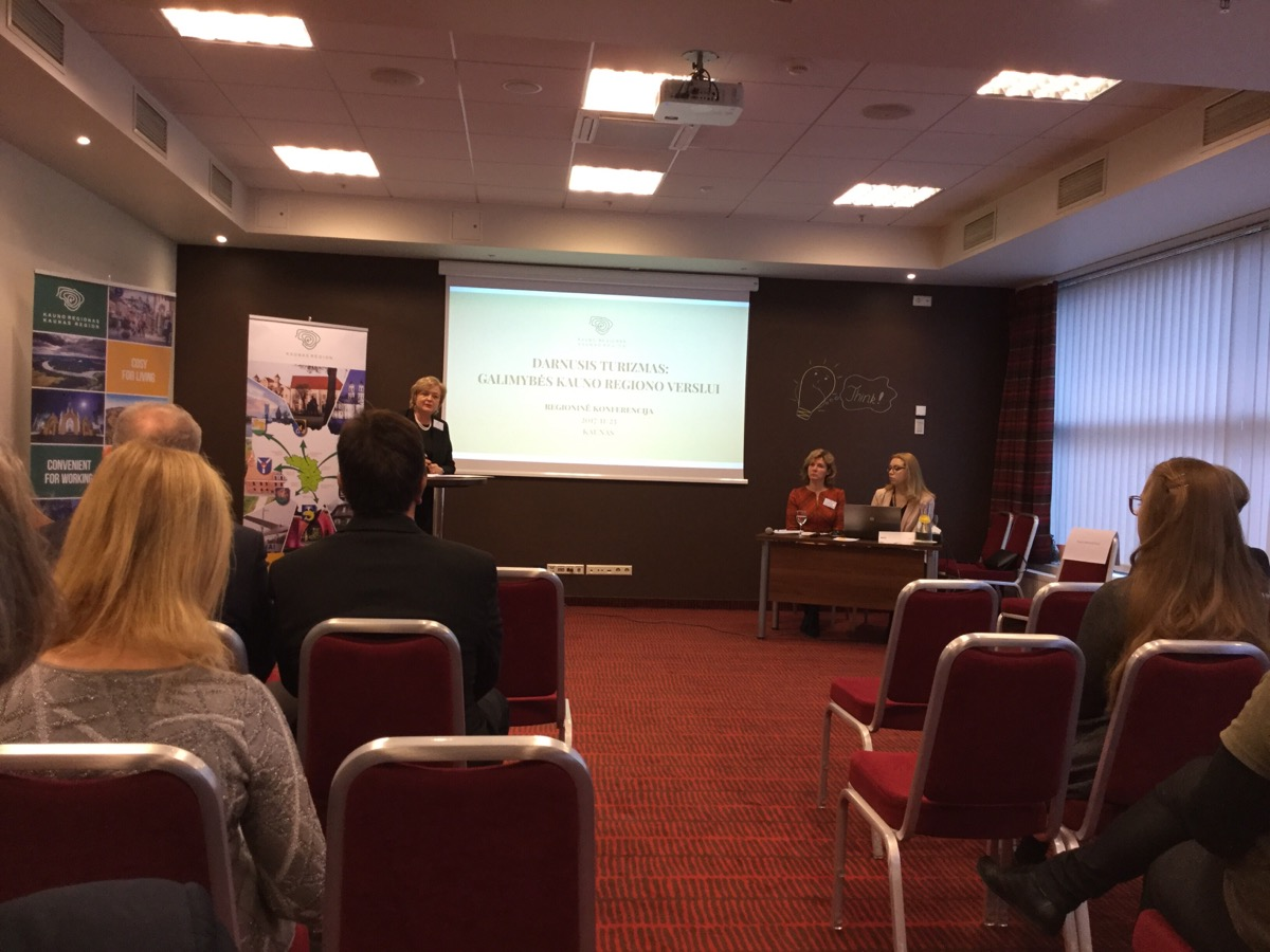 Sustainable tourism conference in Kaunas, Lithuania