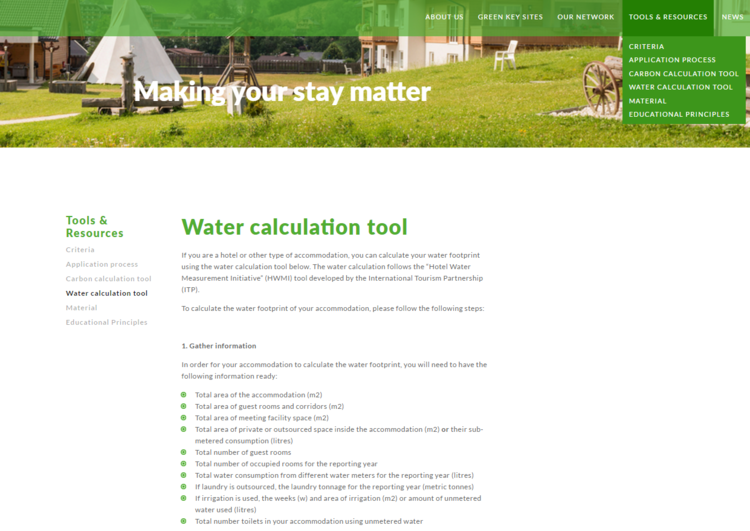Successful year for Green Key's carbon and water measurement tools