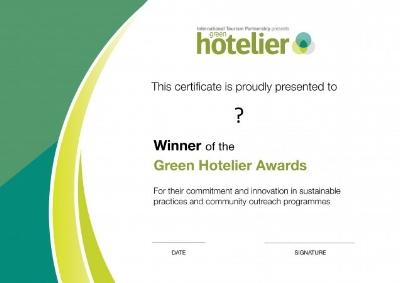 Green Hotelier Award 2018 - apply now!