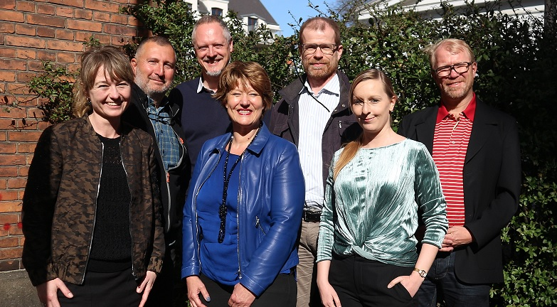 Green Key ISC meeting on 11 April 2018  Back: Riza Epikmen (FEE), Finn Bolding Thomsen (Green Key), Torben Kaas (Danish Outdoor Council), Mikal Holt Jensen (Horesta). Front: Kirsten Munch Andersen (Horesta), José Hendriksen (FEE), Isabel Lissner (Green Key)