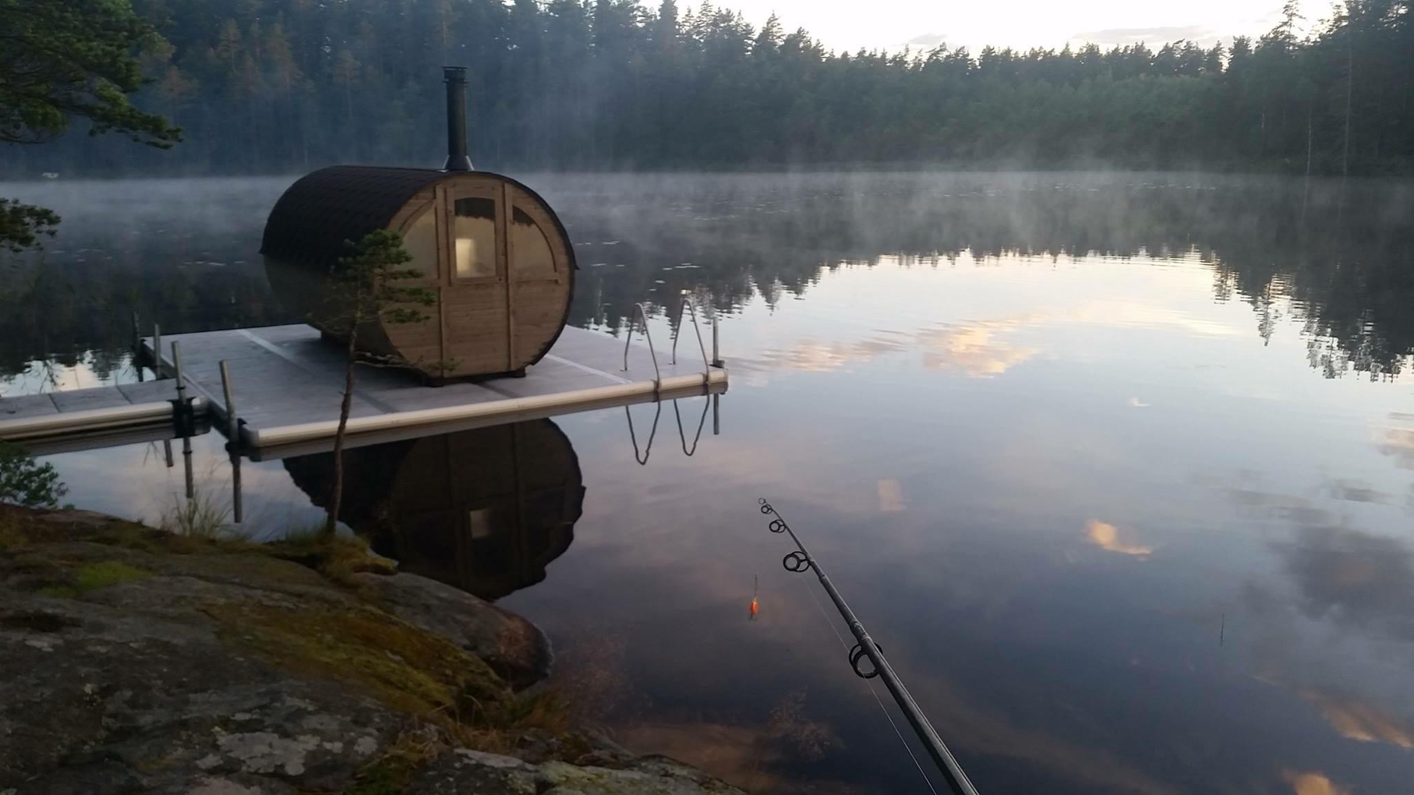 Sauna at Kolarbyn Eco-lodge. Picture taken by Lennart Trollvad.