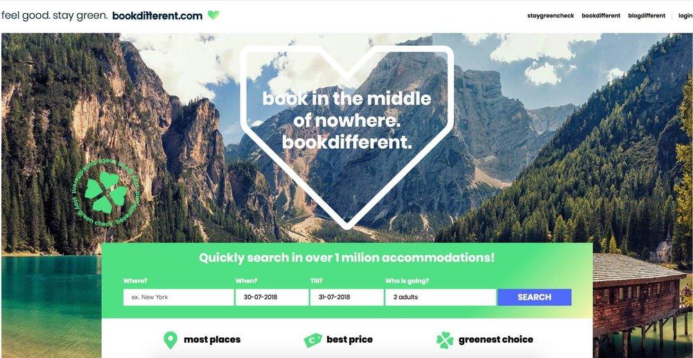 "Bookdifferent.com highlights Green Key as ""greenest choice"""
