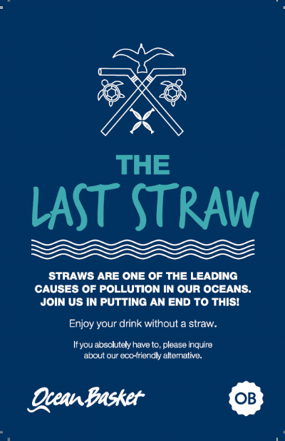 Ocean Baskets want to make plastic straws history