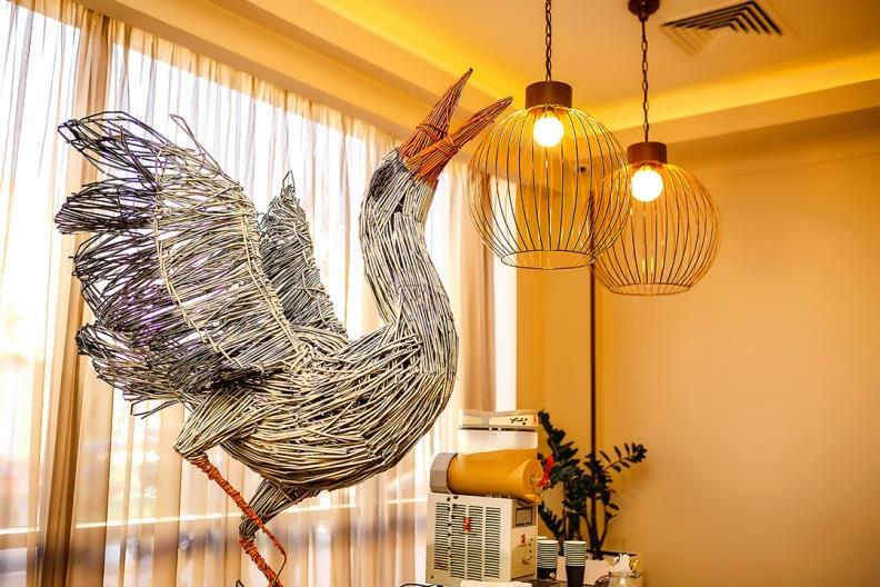 The Radisson Blu Hotel, Kyiv Podil creates art with plastic straws