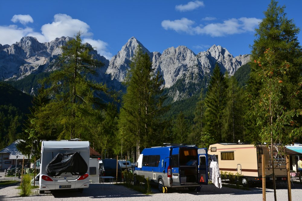 Camp Špik has the amazing view on the Alps