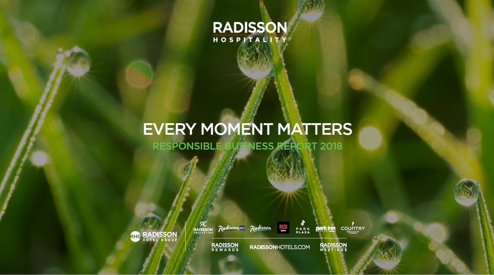 Radisson Hotel Group's 2018 sustainability achievements