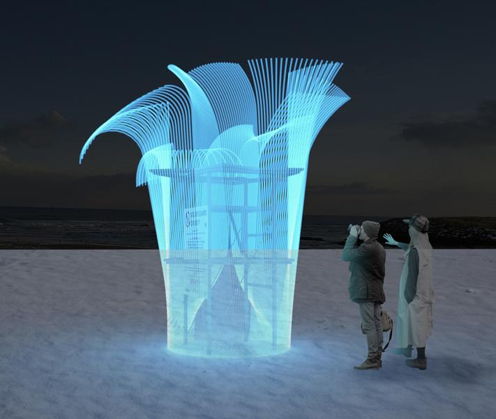 Liquid ANEMONE | Winter Sculpture + Lifeguard Stand