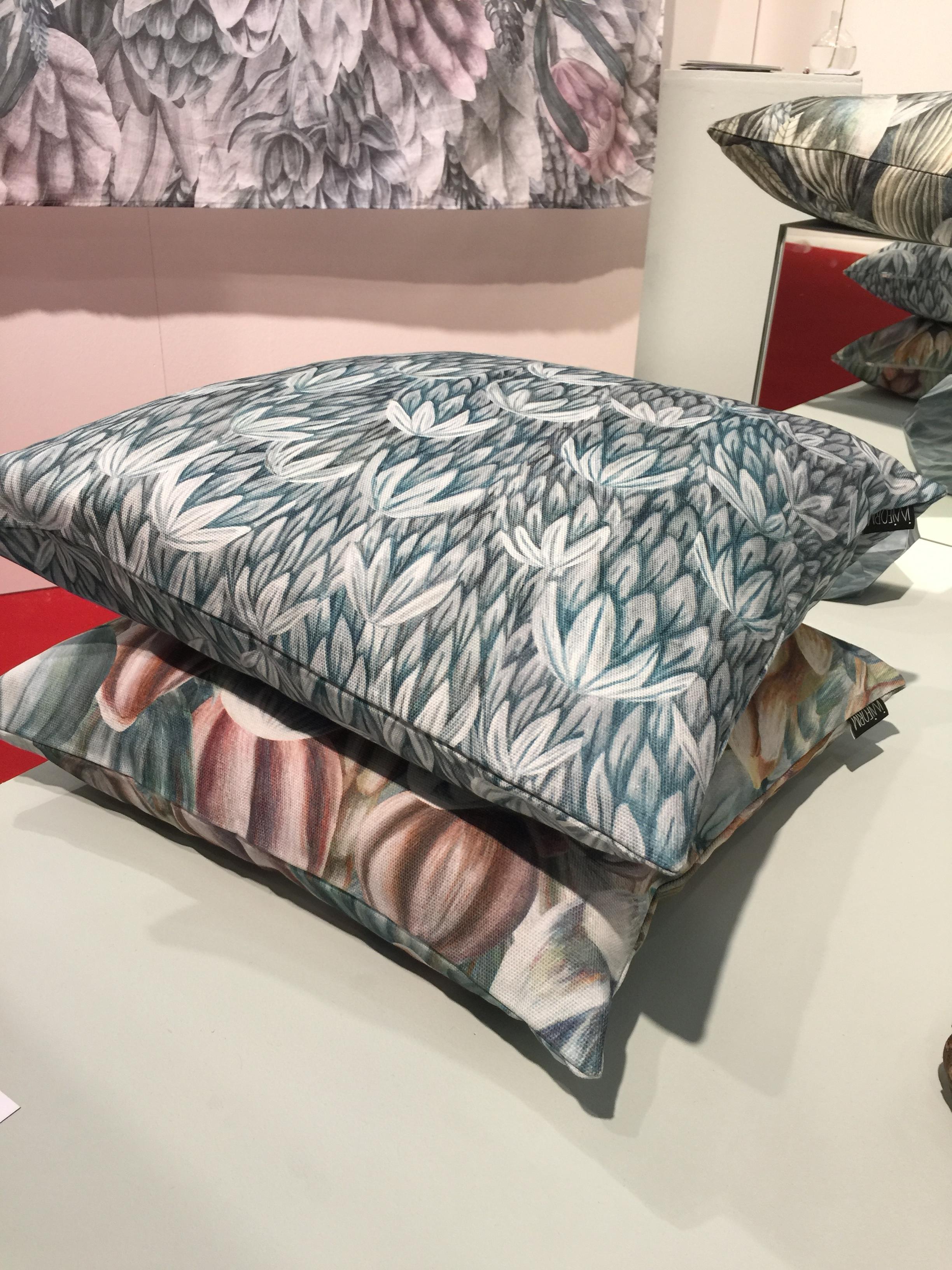 Designer Lisa Gårdeler uses acrylic paint for her patterns.