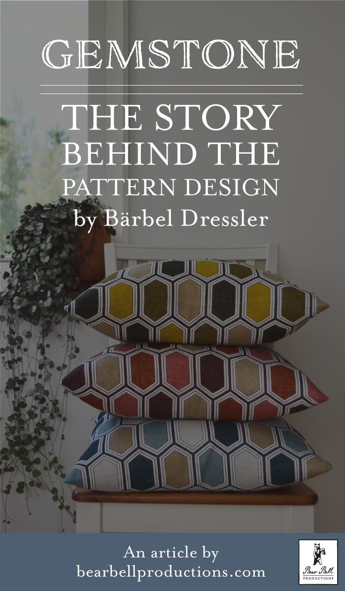 Learn the techniques and process Swedish pattern designer Bärbel Dressler at Bear Bell Productions used for creating the surface pattern design she did for Svanefors home textiles Autumn/Winter collection.