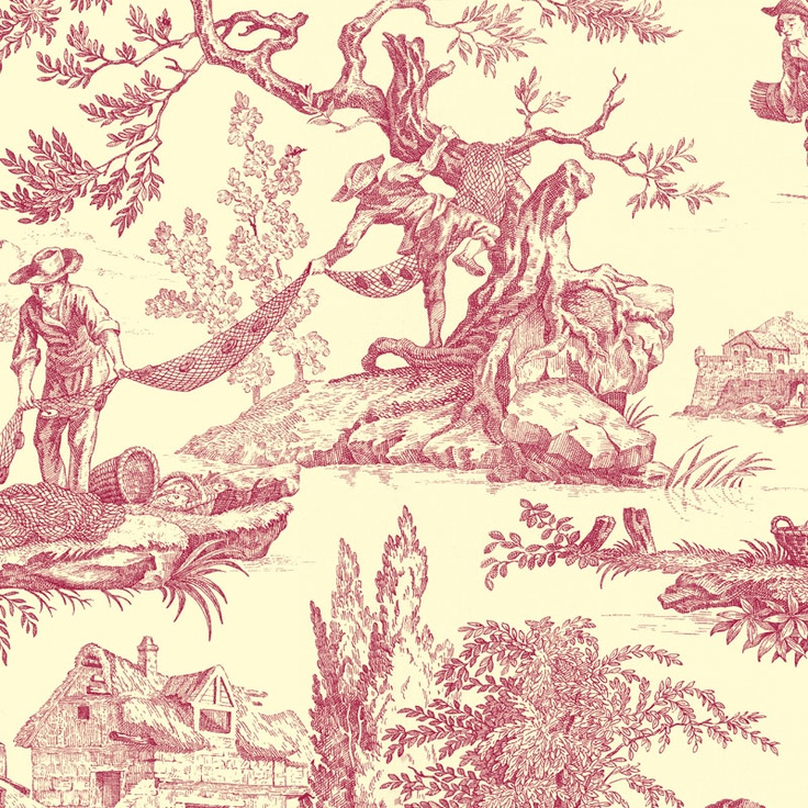 Toile showing the life and labour of fishermen.
