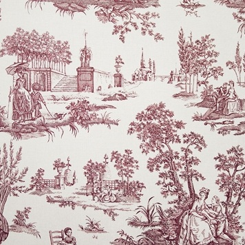 Typical Toile theme: love and couples courting.