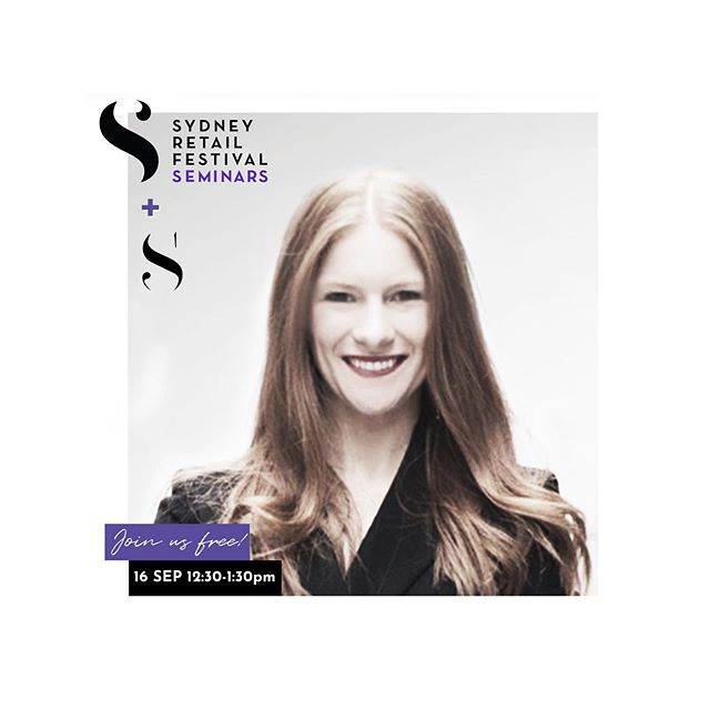 Speaking on Tech & Fashion at the @sydneyretailfestival this coming Monday, come say hi if you're there! #retail #retailtech