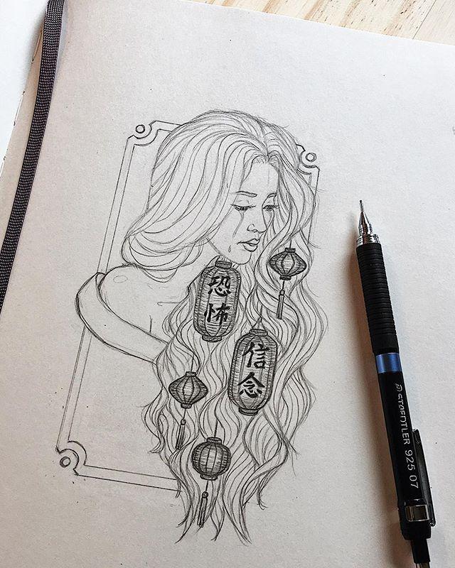 Concept sketch for my next piece, which will be my first oil painting😱🏮✍️ #imback #moleskine #sketch #danidesignart . . . . . . . . . .  #workinprogress #conceptart #lanterns #illustration #worldofpencils #graphite #pencil #drawing #sketching #sketchbook #beautifulbizarre #surrealart #phillyart #illustrator #designer #artistsoninstagram