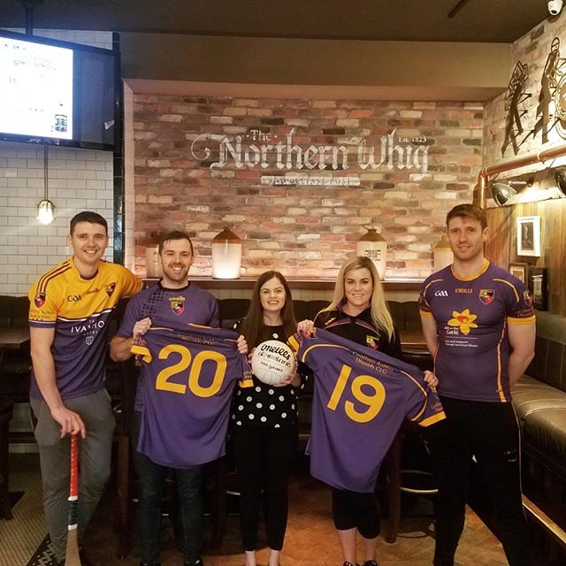 Super proud to be sponsoring the @carryduffclg guys for their night at the races event on 4th May👏🏼 How tiny does our Janean look in comparison, can't half tell she's never played sports eeh 🤣  #carryduff #belfast #northernwhig #horatiogroup #gaa #nightattheraces