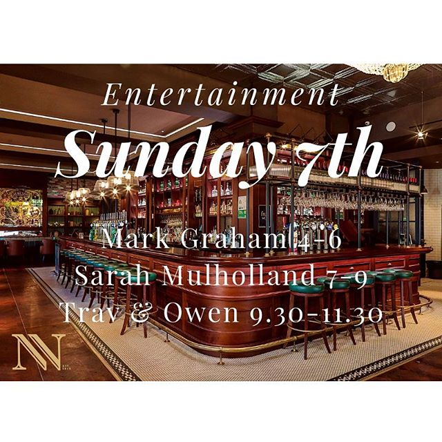 Plenty of entertainment this evening  Perfect for some Sunday sips, or a nice tasty roast!  Or both... 2 course Sunday menu £14.95  Food served 1-8 . #northernwhig #cathedralquarter #belfast #entertainment #livemusic #sundayroast