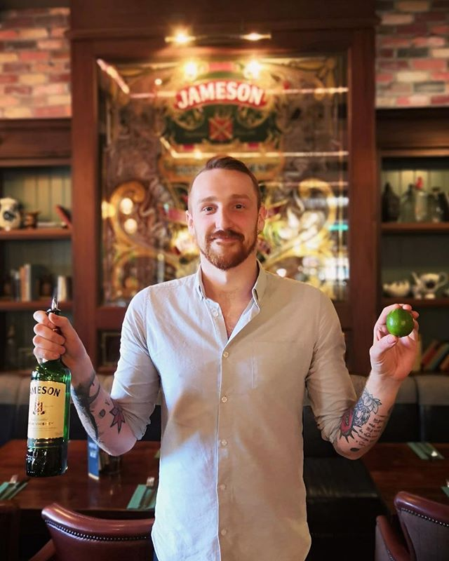 "April promo  Jameson ""ginger"" and lime only £4 Stephen loves it 🥃🍈 #jameson #jamesonandginger"