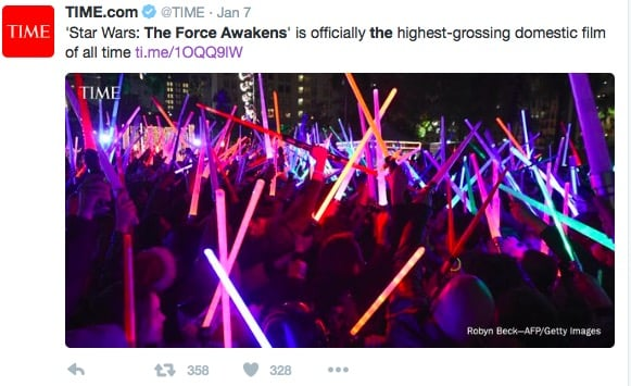 Apparently, I'm not the only one who loved  The Force Awakens.
