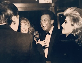 Trump, Carroll, her husband, John Johnson and Ivana Trump at a party in 1987