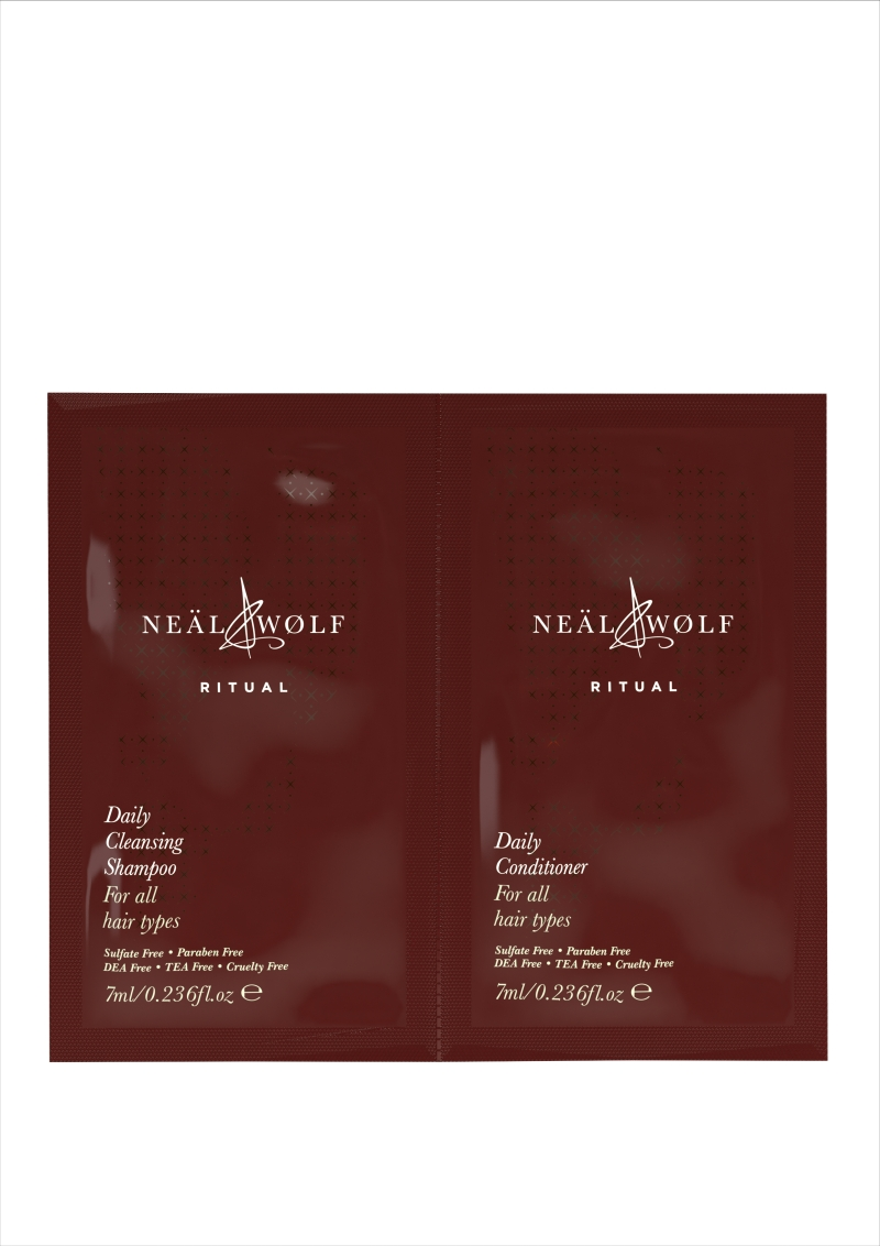 Neal and Wolf Ritual Daily Cleansing Shampoo and Conditioner Sachets