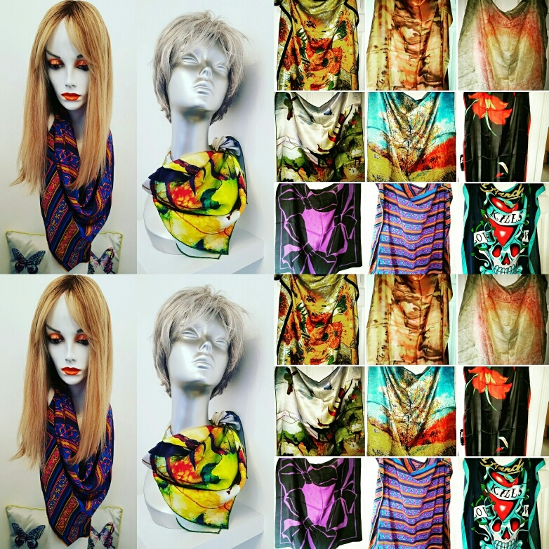 An amazing selection of pure silk scarves from around the world sold by Glamorous Butterfly